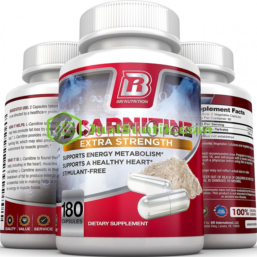BRI Nutrition L-Carn - 180 Count 500 Mg Capsules_2